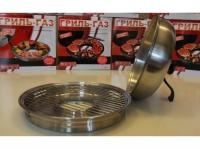 Сковорода гриль-газ D-511 нерж.сталь (съёмная ручка)